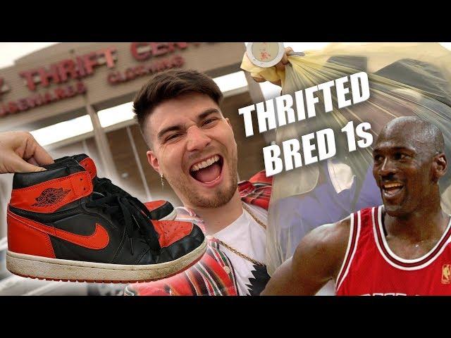 I THRIFTED JORDAN BRED 1s! Deadstock OG Nike Heat! Trip to the Thrift #293