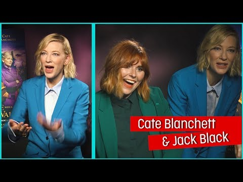Cate Blanchett and Jack Black lose it over reporter's matching outfit! HouseWithAClock