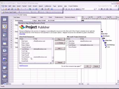 connect microsoft project schedules to sharepoint sharepoint project management