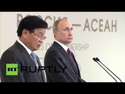 Russia: Putin and Laos' PM close ASEAN-Russia Summit