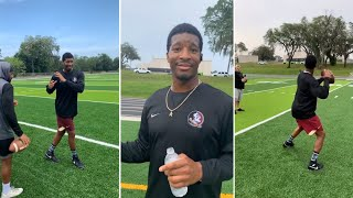 Jameis Winston New Orleans Saints WORKING ON Pocket Presence & Accuracy, & Has Changed His Body