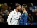 El pique entre Sergio Ramos y Iago Aspas durante el partido de Copa del Rey en el Bernabéu
