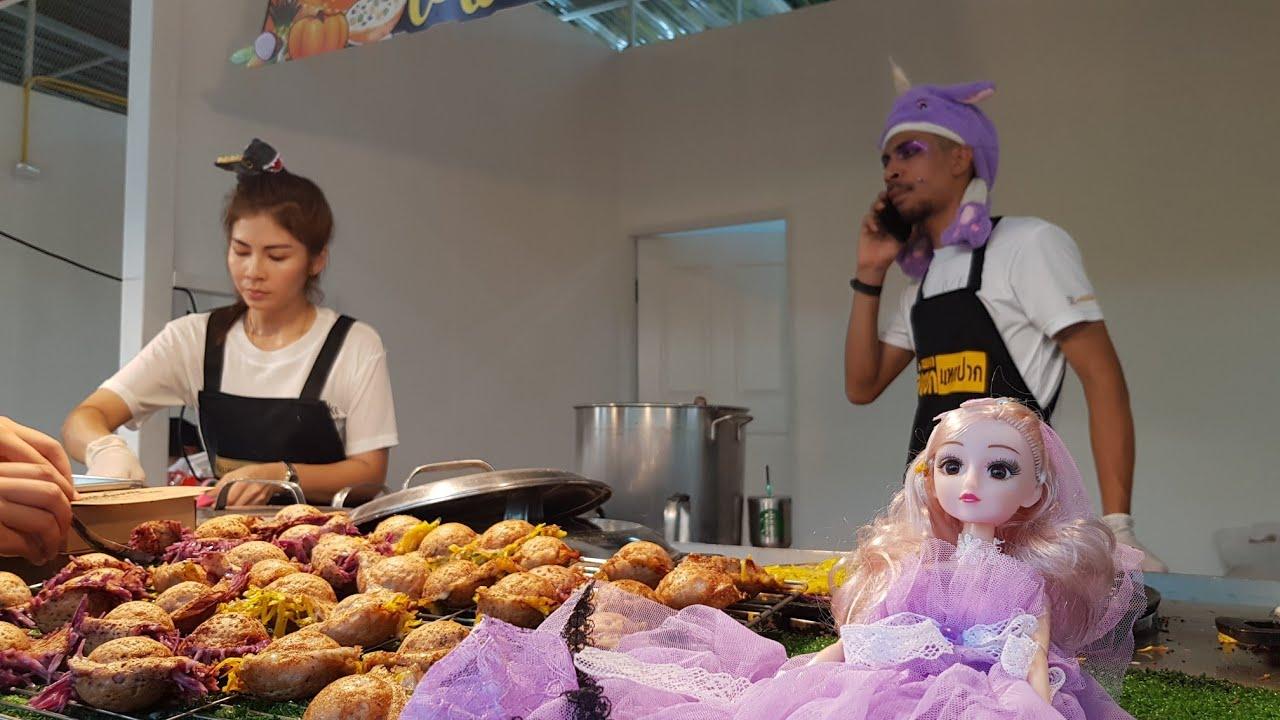 ร้อนๆจ้า..ขายทุกวันเหลือทุกวัน อร่อยที่สุดในสามโลก #ขนมครกเจ้แขกแหกปาก on tour Bangkok