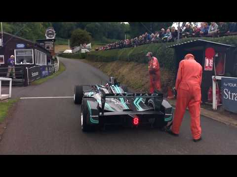 Panasonic Jaguar Racing's Mitch Evans breaks electric vehicle record at Shelsley Walsh - Highlights