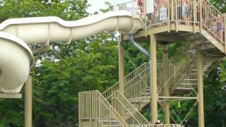 best double chick fil a cow water slide ever