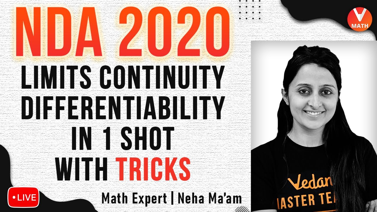 Limits, Continuity & Differentiability For NDA 2020 in 1 Shot With Tricks | NDA Exam Preparation