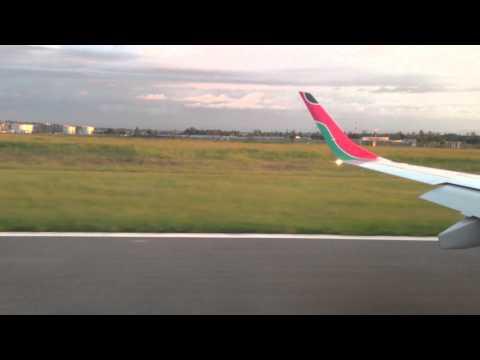 Landing at Kisumu Airport on Kenya Airways