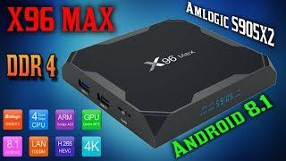 новинка! Обзор смарт тв приставки X96 Max на новом процессоре Amlogic S905X2 ОС Android 8.1 RAM DDR4