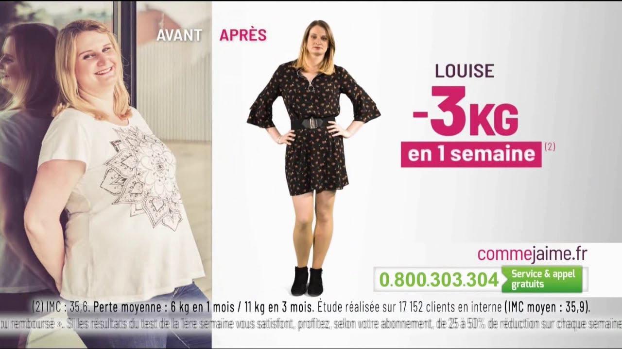 """Comme J'aime """"les résultats dès la 1ère semaine (+ Louise)"""" Pub 30s"""