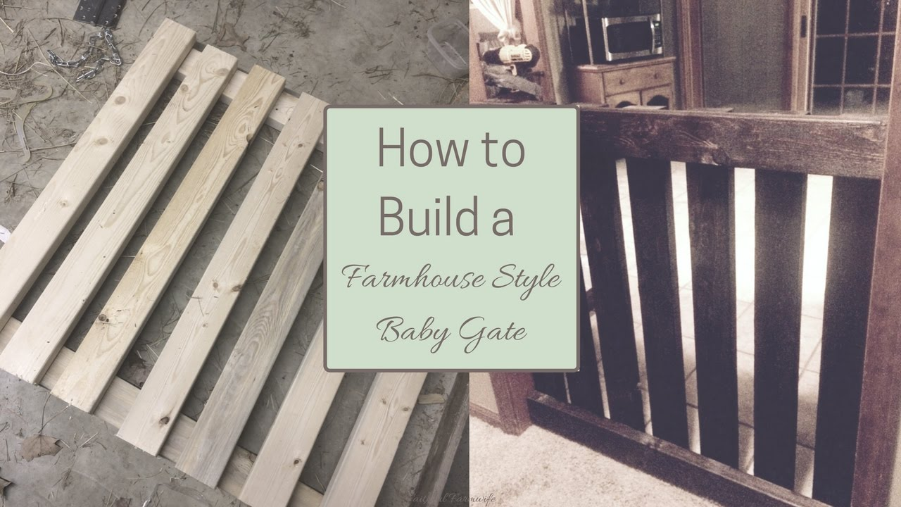 how to build a farmhouse style baby gate youtube. Black Bedroom Furniture Sets. Home Design Ideas