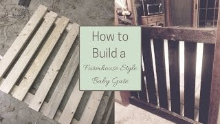 Ready to take your home back from the reign of a curious & mobile child? Build this simple & affordable farmhouse style baby gate
