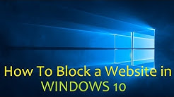 How To Block a Website in Windows 10