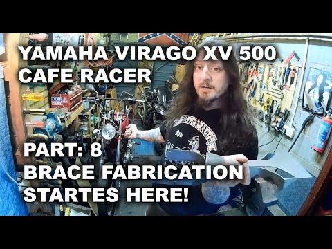 Cambridge Pinstriping, Yamaha XV 500 Custom Project - Part8: Brace fabrication starts