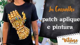 Patch Aplique e pintura de personagem – Ju Carvalho