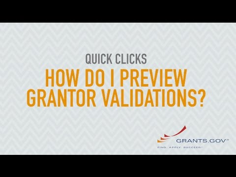 Quick Clicks: How Do I Preview Grantor Validations?