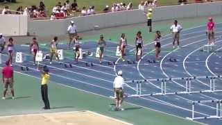 平成27年度 第64回近畿中学校陸上競技 女子共通100mH決勝