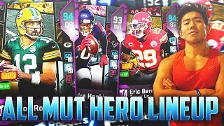 ALL POWERED MUT HERO TEAM! CRAZIEST ENDING YOU WILL SEE! Madden 19 Ultimate Team