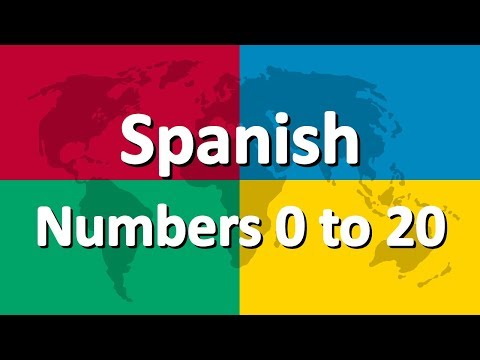 Learn Spanish part 4 | Numbers 0 to 20