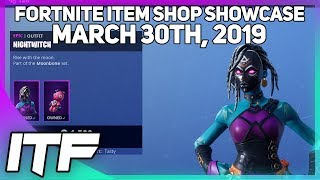 Fortnite Item Shop *NEW* SHAMAN AND NIGHTWITCH SKINS! [March 30th, 2019] (Fortnite Battle Royale)