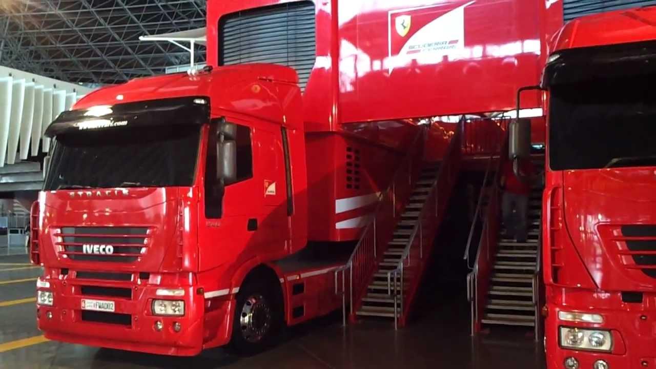 Ferrari Formula 1 Technical Trucks At Ferrari World Abu