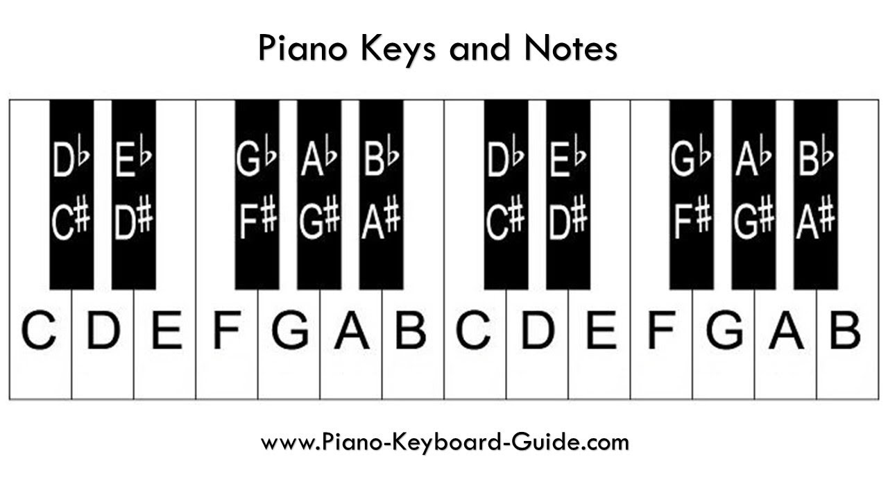 Labeling Piano Keys - Easy Way