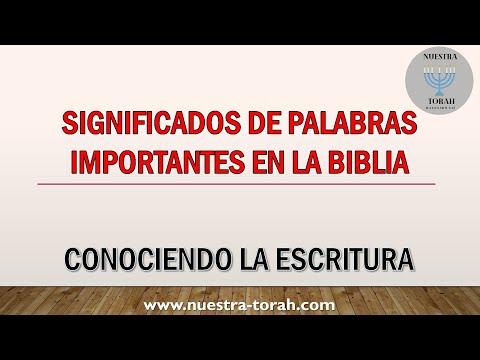 Significados De Palabras Importantes En La Biblia
