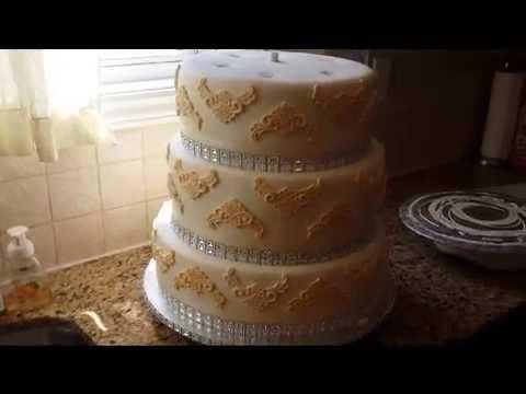 5 Tier Wedding Cake - YouTube