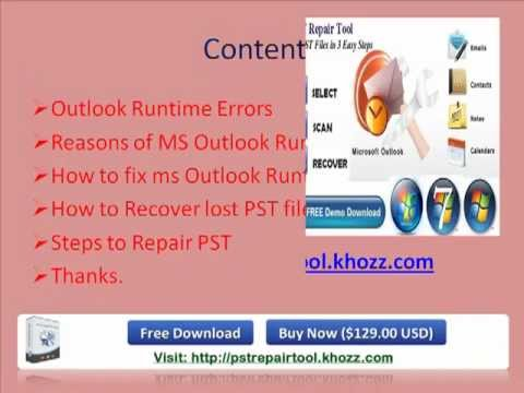 How to Fix MS Outlook Runtime Error