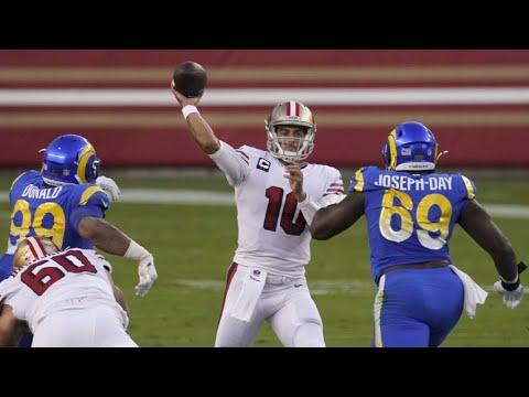 Jimmy Garoppolo throws 3 TD passes, 49ers beat Rams 24-16