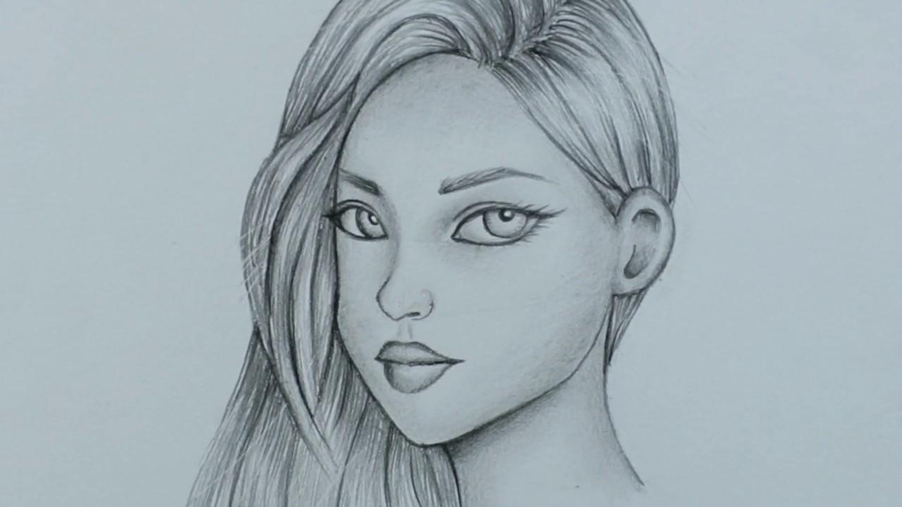 How to Draw a Girl Face for BEGINNERS - step by step ...