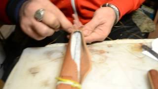Видео-урок #3:Формовка подвеса и пошив ножен скандинавского типа. (Альмов Муса Хасенович)