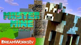 How to Build an Automatic Cow Farm in Minecraft with Fin & Sky | MASTER MINE TUTORIALS