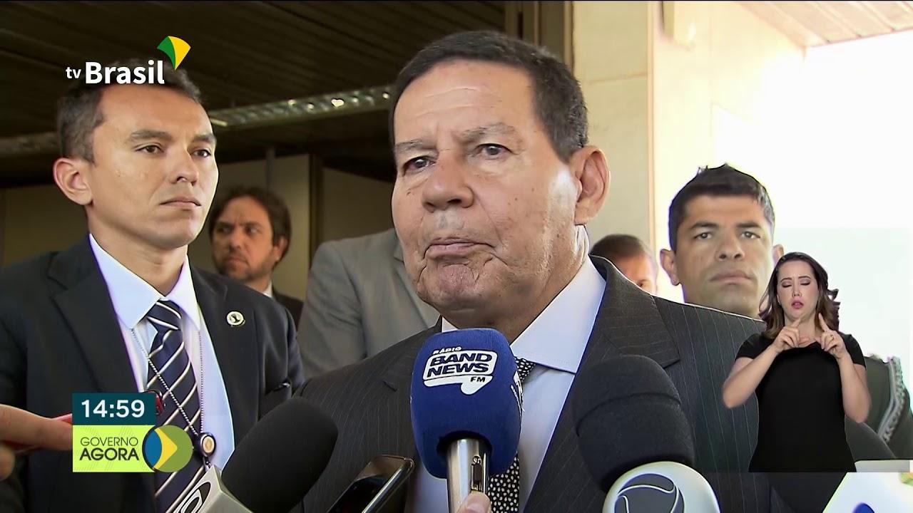 O presidente em exercício, Hamilton Mourão fala sobre uma possível liberação de fundos do FGTS
