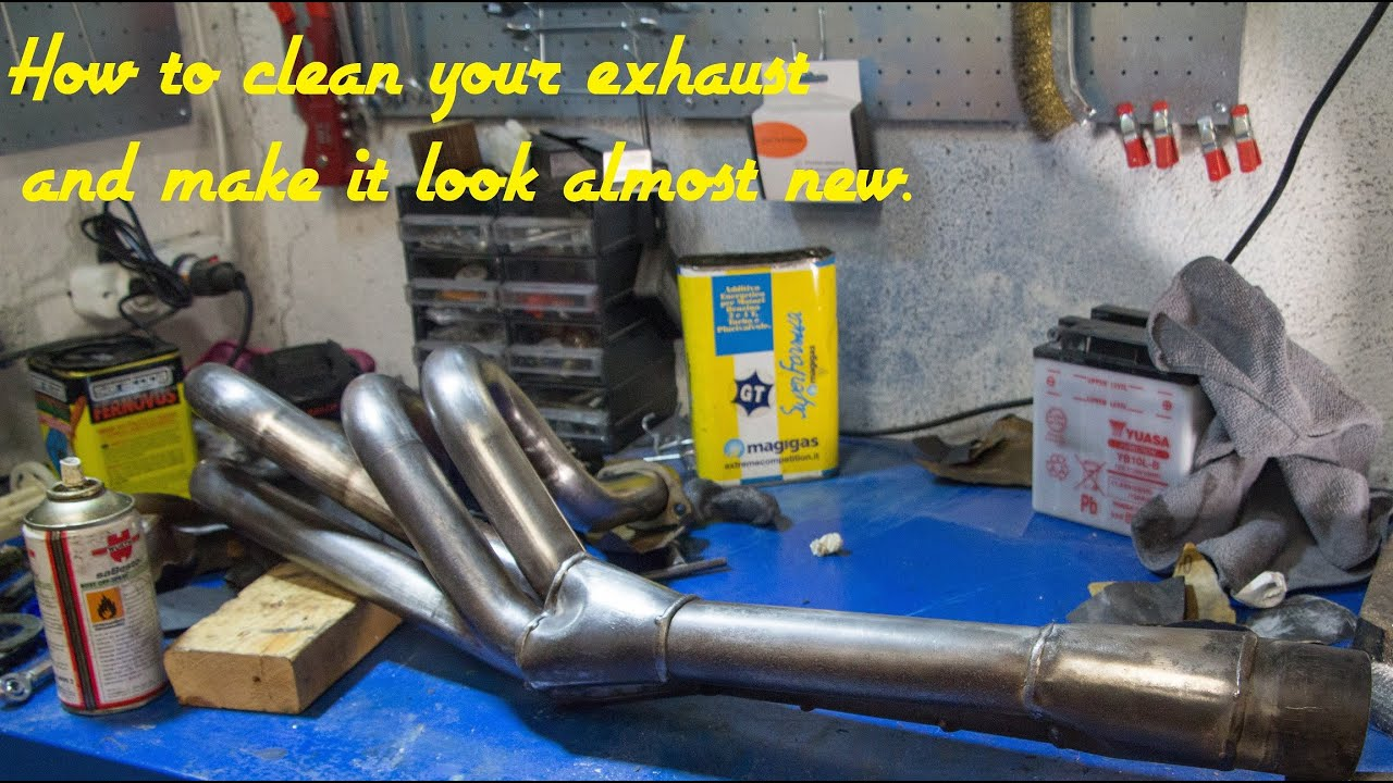 How To Clean Stained And Burnt Exhaust Pipes Youtube