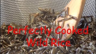 Perfectly Cooked Wild Rice