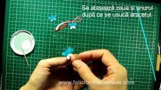 Mărtișoare quilling - Fluturaș