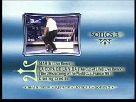 Ricky Martin - One night only DVD inserts