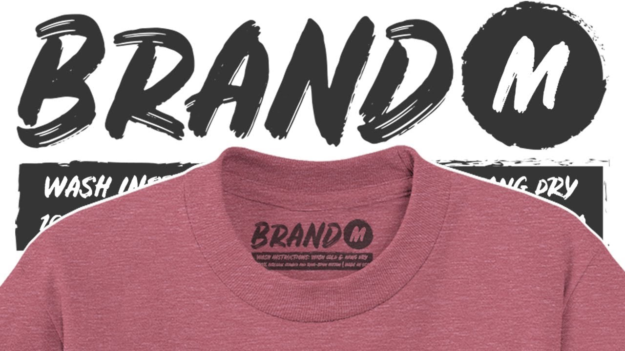 Amazing Way To Make Neck Label Designs For Blank Shirts