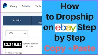 How to DROPSHIP on eBay STEP by STEP 2018 (Copy & Paste Job) 😊