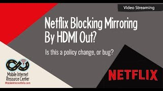 [Fixed] Netflix HDMI Out for Downloaded Content on Apple iOS 11 Devices Temporarily Disabled