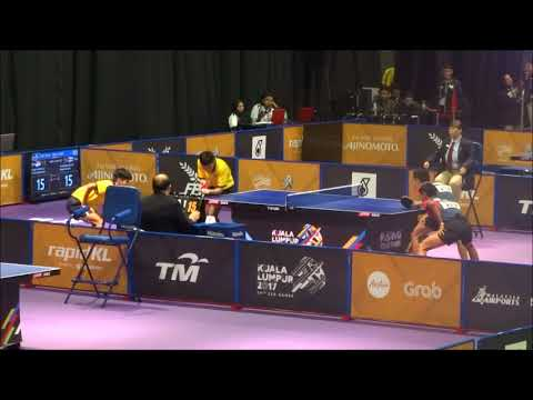 SEA Games 2017 Table Tennis, Thailand V Indonesia , Double  25 8 2017 Men Group