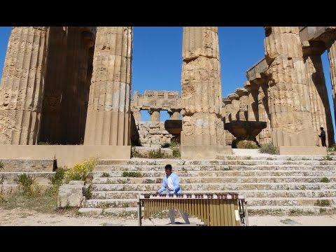 Rafa Navarro playing  MARIMBA in a GREEK TEMPLE Sicilia