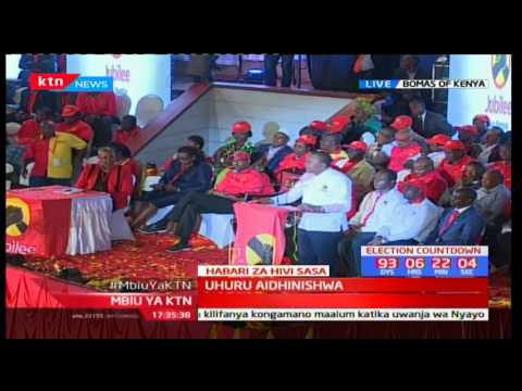 President Uhuru Kenyatta's full speech at Jubilee Endorsement Party at Bomas of Kenya