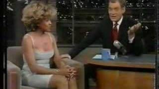 Tina Turner on David Letterman - Undercover Agent unplugged