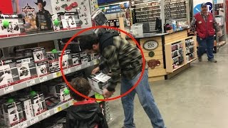 breaking news man caught on camera stealing from lowes store store employee intervened