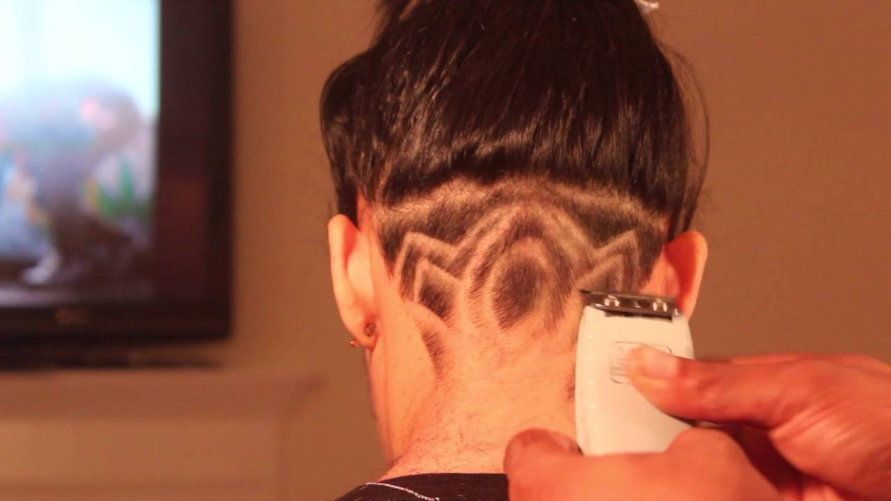 Creative Undercut Nape Design