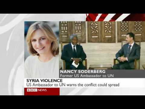 Nancy Soderberg, former US Ambassador to the United Nations, speaking about Syria