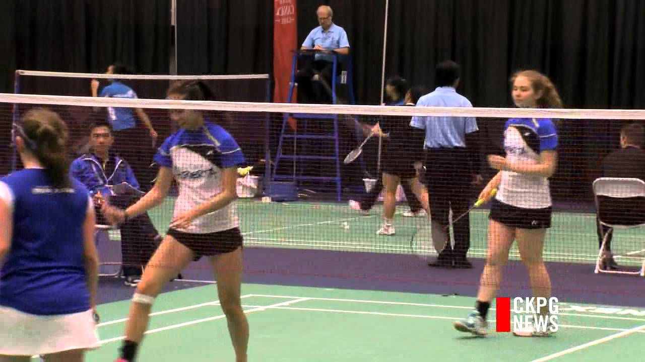 takeisha wang leaning on badminton resume for winter games