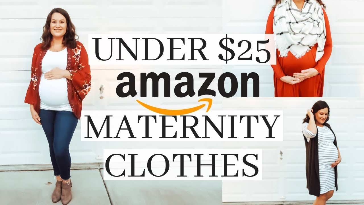 a895b8f9159dd AMAZON MATERNITY CLOTHES UNDER $25 // HAUL AND TRY ON! FALL 2018 ...