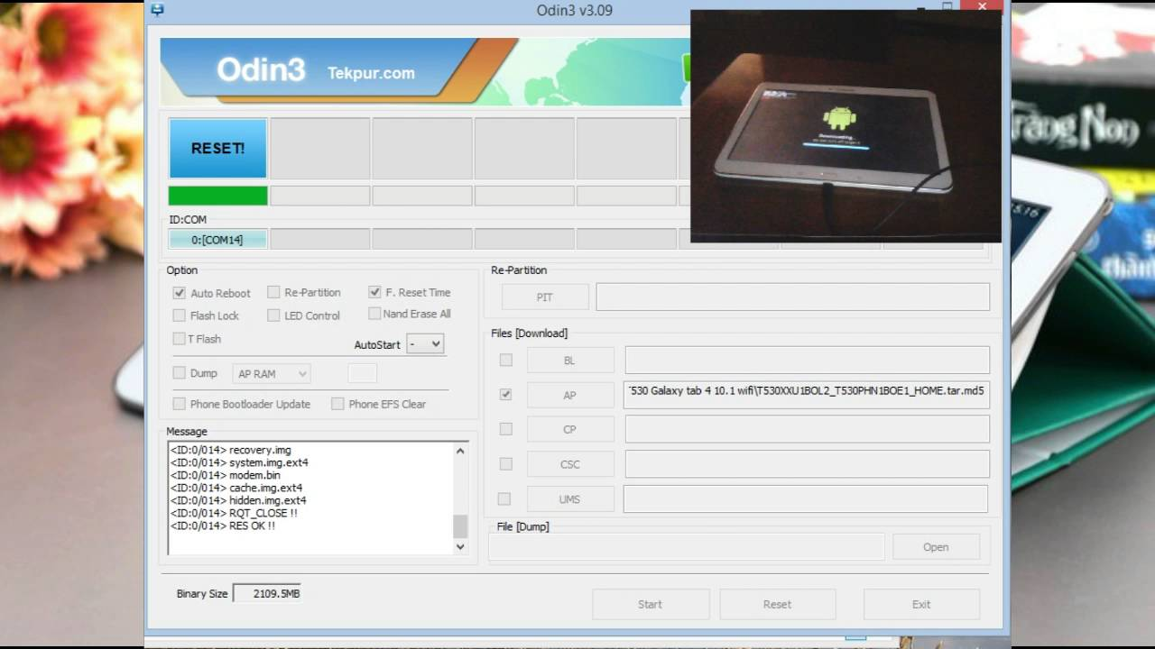 How to flash a Samsung tablet